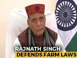 Video : New Agriculture Laws Will Raise Farmers' Income, Says Rajnath Singh