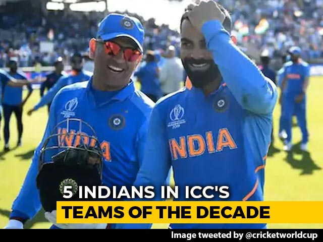 Video : Kohli, Dhoni Among Five Indians Named In ICC's Men's Teams Of The Decade