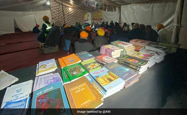 Makeshift Library Set Up At Delhi-Haryana Border Amid Farmers' Protests
