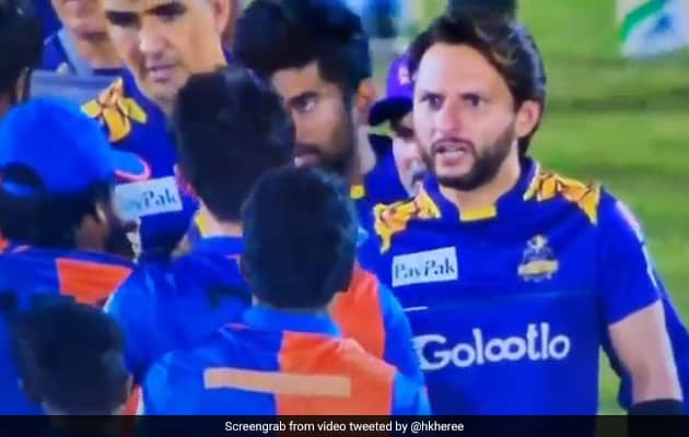 Watch: Afridi Rebukes Afghan Player After His Spat With Amir
