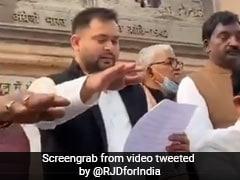"""Arrest Me If You Can"": Tejashwi Yadav Dares Nitish Kumar Government"