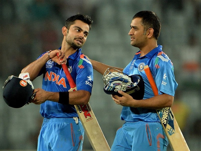 """ICC Revisits MS Dhonis """"Sweet Gesture"""" For Virat Kohli From 2014 T20 World Cup. Watch"""