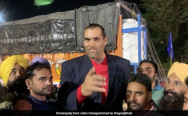 Watch: Professional Wrestler Khali Backs Farmers' Protest