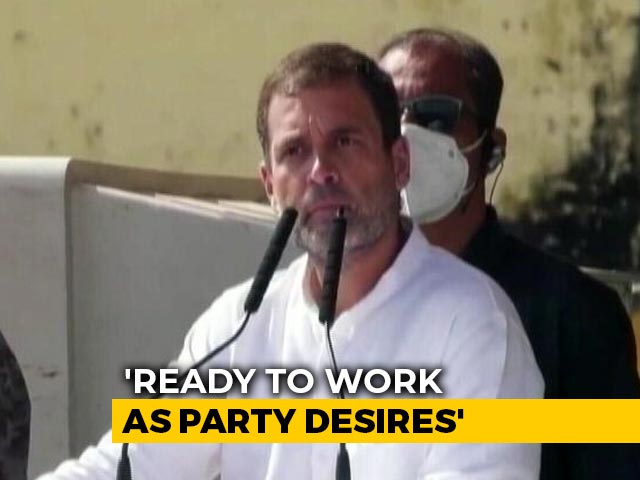 "Video : ""Ready To Work As Party Desires"": Rahul Gandhi At Congress Meeting"