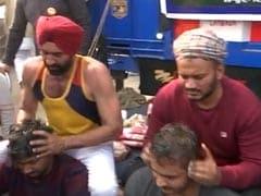 "Kabaddi Players Offer Head Massage To ""Destress"" Protesting Farmers"