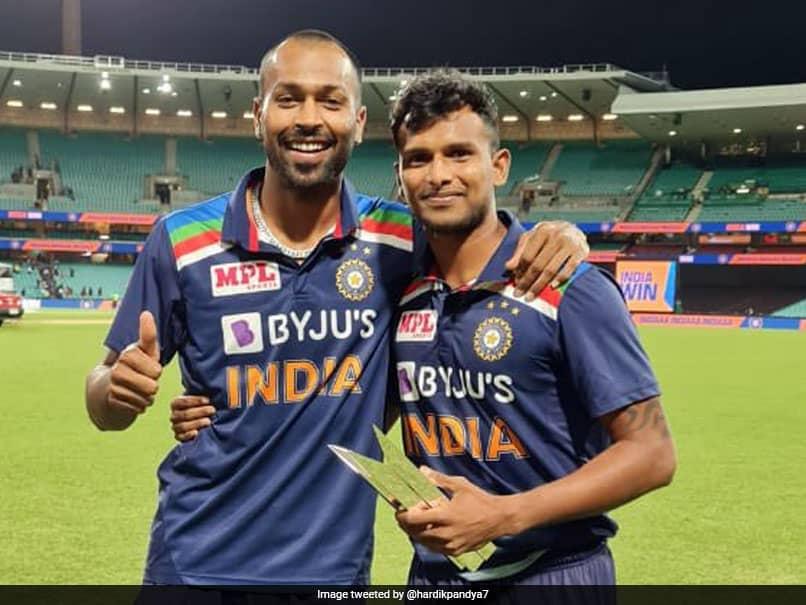 "Australia vs India: Hardik Pandya Hands Man Of The Series Award To ""Outstanding"" T Natarajan"