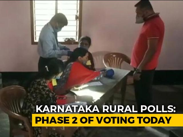 Video : Karnataka Votes For Second Phase Of Rural Polls