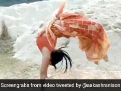 साड़ी पहनकर लड़की ने मारी ऐसी बैकफ्लिप, देखकर लोगों के उड़े होश, 10 लाख बार देखा गया Video