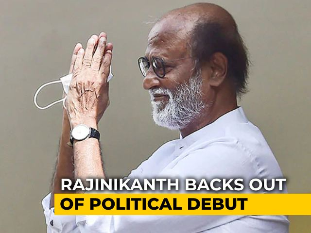 "Video : Rajinikanth Cancels Political Plans After ""Warning From God"""