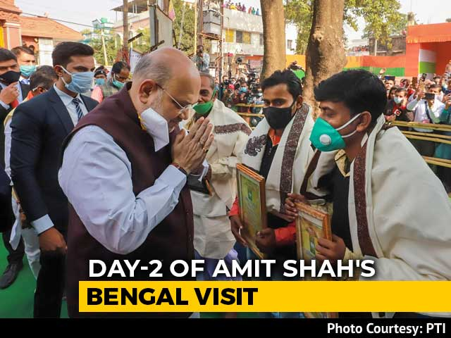 Video : Amit Shah's Mega Road Show Today In West Bengal