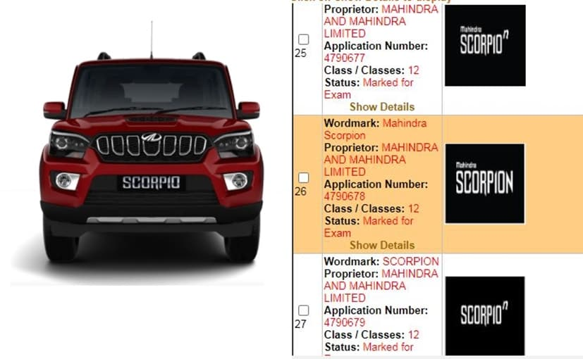 This could be the name of the next-generation Mahindra Scorpio or a special/sporty variant of the SUV
