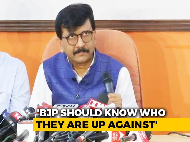 "Video : ""I Have BJP's File, 121 Names"": Sena's Sanjay Raut After Summons To Wife"