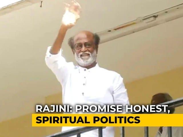 "Video : 'Thalaiva' Rajinikanth's Big Debut With ""Secular, Spiritual Politics"""
