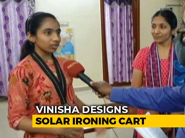 Video : Class 9 Girl's Solar Ironing Cart Wins Climate Prize, Promises Better Air Quality