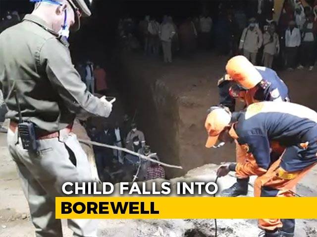 Video : 4-Year-Old Falls Into Nearly 30-Feet-Deep UP Borewell; Rescue Operations On