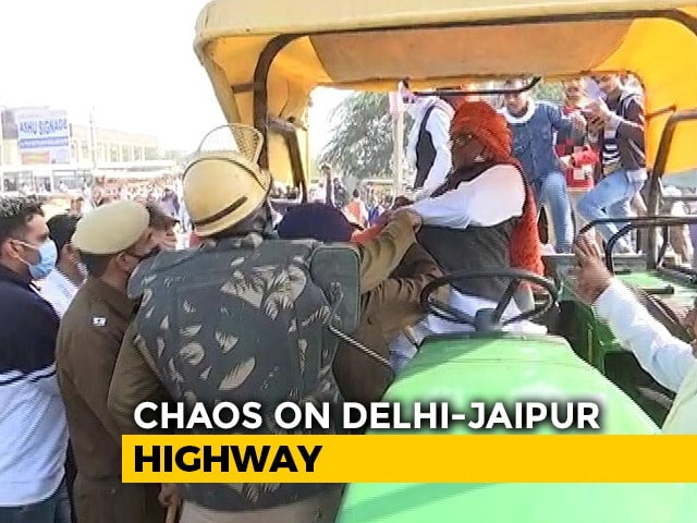 Video : Farmers Detained As They Try To Move Towards Delhi, Tractor Keys Snatched