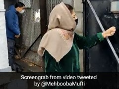 """Mehbooba Mufti Says She's Been """"Detained Once Again"""""""