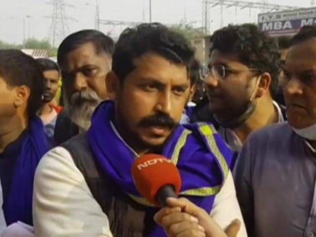 """Video : """"Centre Seeing Democracy's Power"""": Bhim Army Chief Joins Farmers' Protest"""