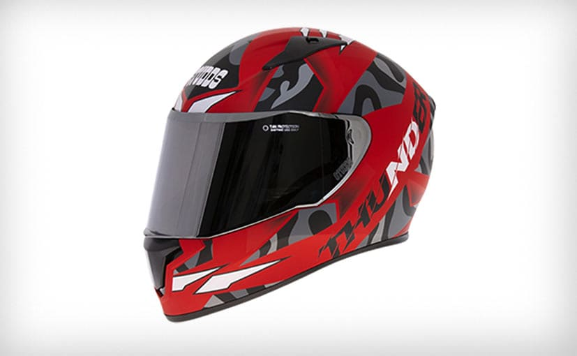 The Studds Thunder D7 Decor helmet is priced at Rs. 1,795