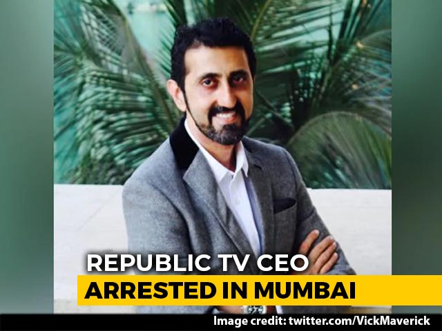 Video : Republic TV CEO Vikas Khanchandani Arrested In Mumbai In Fake TV Ratings Scam