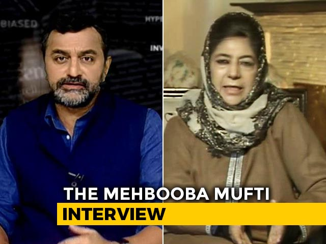 "Video : ""Will Go To International Tribunal If They Push Me Too Hard"": Mehbooba Mufti"