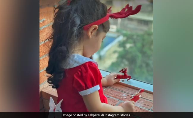Christmas 2020: Meet The Cutest Little Rudolf. Pic Courtesy Soha Ali Khan
