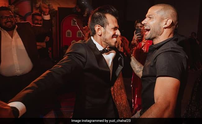 Shikhar Dhawan Takes Yuzvendra Chahal For A Spin, Spinner Cant Resist Laughing Out Loud. See Pic