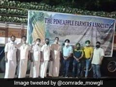 दिल्ली की सीमाओं पर प्रदर्शन कर रहे किसानों के लिए केरल के किसानों ने भिजवाया 16 टन अनानास