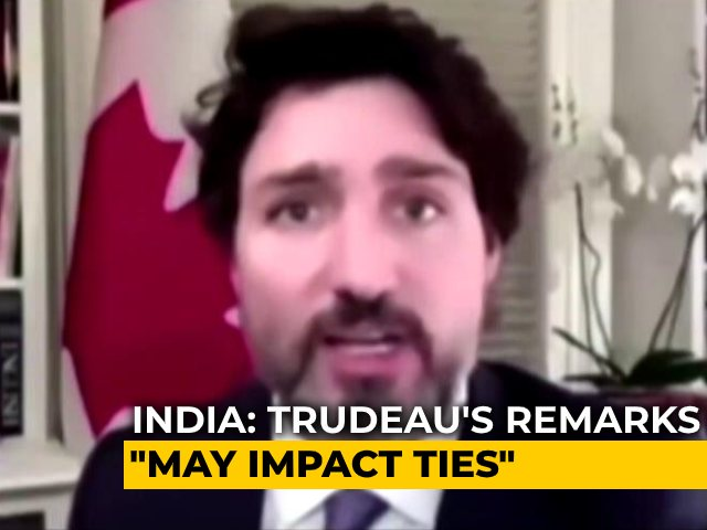 "Video : India Protests Trudeau's Remarks On Farmers' Agitation: ""May Impact Ties"""