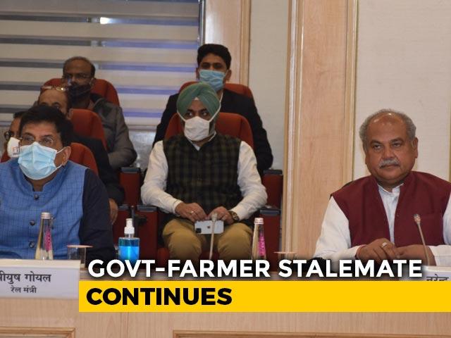 Video : Centre's Talks With Farmers Fail, Next Meet Tomorrow