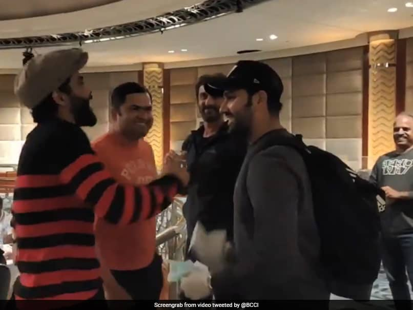 """Looking Younger"": Watch Team Indias Warm Welcome For Rohit Sharma"