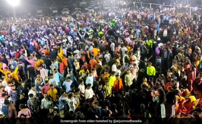 Watch: Hundreds Violate Covid Norms At Gujarat BJP Leader's Event