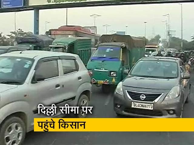 Video : दिल्ली-यूपी बॉर्डर पर जुटे किसान, लंबे जाम से लोग परेशान