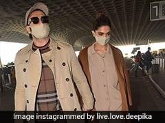 Deepika Padukone, Ranveer Singh Notch Up Airport Fashion In Winter Wear