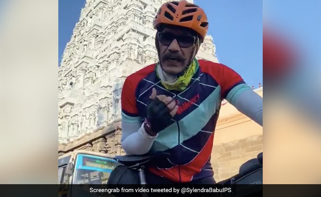 Railway Top Cop Pedals 600-Kilometre To Promote Cycling