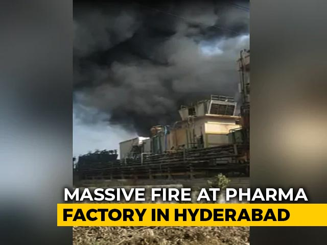 Video : 8 Injured In Fire After Explosion At Drug Factory In Hyderabad