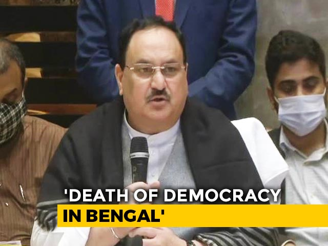 "Video : ""Intolerance Thy Name Is Mamata"": JP Nadda On Attack On Convoy"