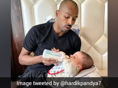 """""""From National Duty To Father Duty"""": Hardik Pandya Shares Adorable Pic With Son Agastya"""