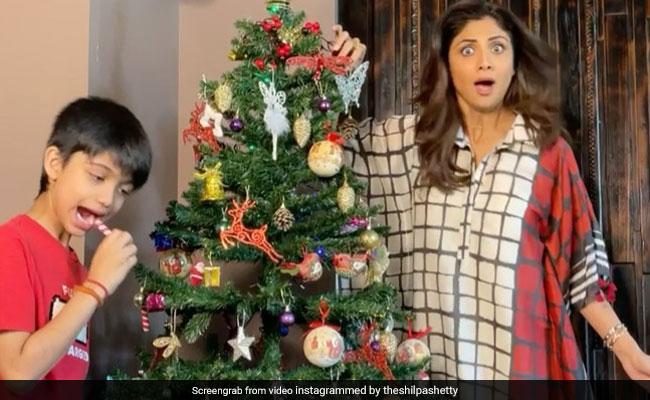 A Scene From Shilpa Shetty And Son Viaan Raj Kundra's 'Favourite' Christmas Tradition