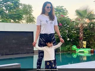 "Sania Mirzas ""Twinning"" Photo With Her ""Little Star"" Son Izhaan Is Cuteness Overload. See Pic"
