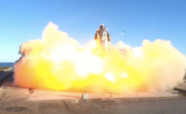 SpaceX's Starship Prototype Blasts Off, Crashes In Fireball On Landing