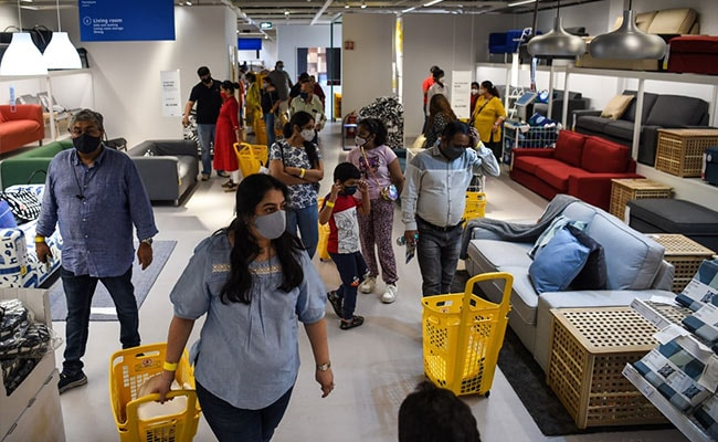Hundreds Of Masked Buyers At Ikea's Mumbai Opening Today