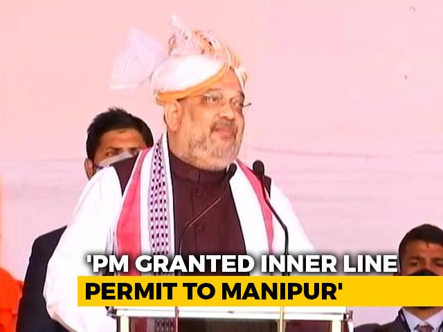 Video : No Blockades In The Last 3 Years: Amit Shah In Manipur