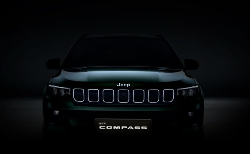 The new Jeep Compass compact SUV will be unveiled in the country on January 7, 2021