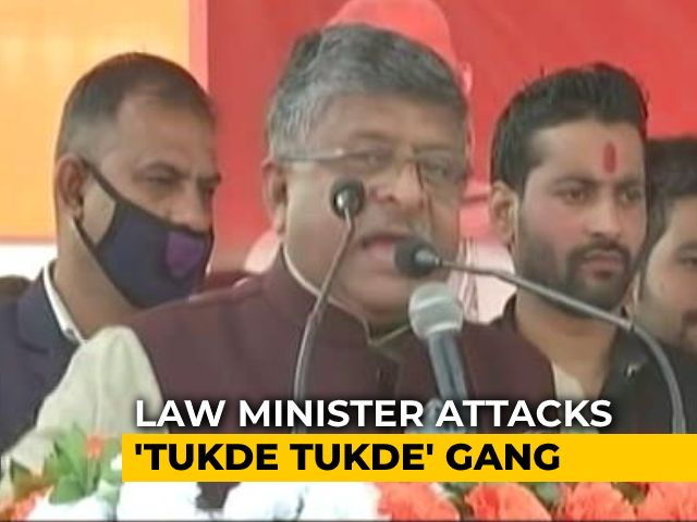 "Video : ""<i>Tukde Tukde</i> Gang"" Taking Advantage Of Farmer Protests: Law Minister"