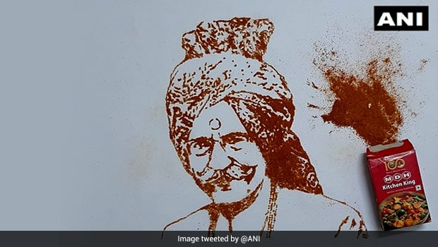 'A Fitting Tribute': Chandigarh Artist Creates Portrait Of MDH Owner Using Spices