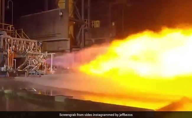 Watch: Jeff Bezos Shows Off Rocket Engine That'll Put 1st Woman On Moon