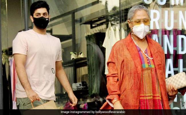 Jaya Bachchan And Grandson Agastya Nanda's Day Out In Mumbai. See Pics