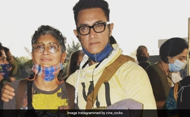 Aamir Khan And Kiran Rao Fly Out Of Mumbai With Family For A Vacation. See Pics