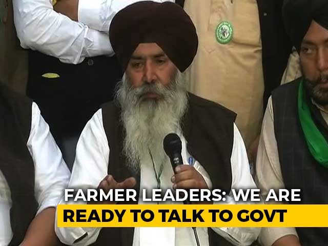 Video : Ready For Talks, But Will First Discuss Repealing Farm Laws: Farmer Leaders